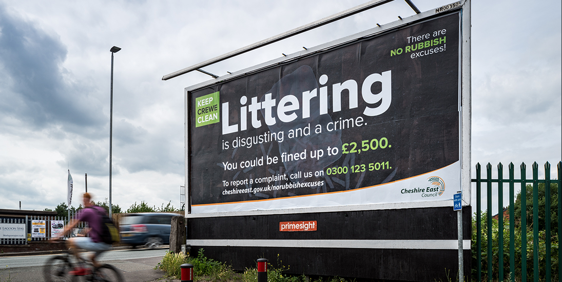 Cheshire East fly tipping campaign