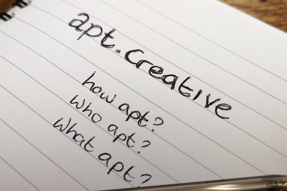 apt.creative Liverpool image of notebook